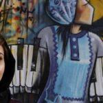 গ্রাফিতি এঁকে আফগানি নারীর বন্দিদশা ব্যাখ্যা করেন শামসিয়া